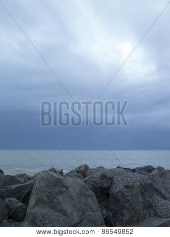 Sea And Sky Before The Storm