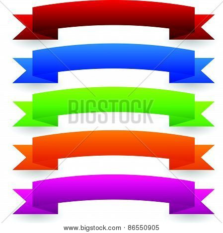 Colorful Vector Banner Set - Curved, Arched Version