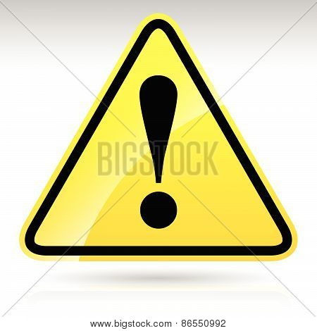 Yellow Exclamation Mark Sign - Caution, Warning Attention Sign