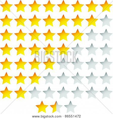 Star Rating Template Vector With Group Of Stars