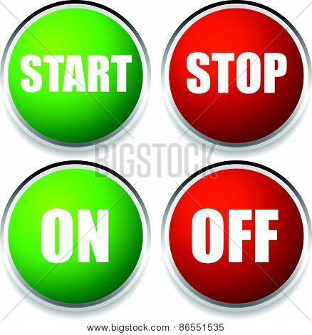 Start-stop And On-off Buttons