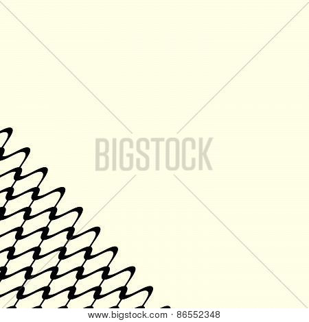 Modern, Minimal Abstract Grid, Mesh Pattern