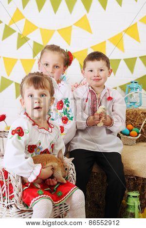 Ukrainian Children In Costumes