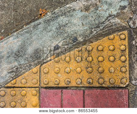Image Of Close Up At Tactile Paving Texture
