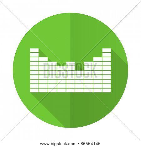 sound green flat icon