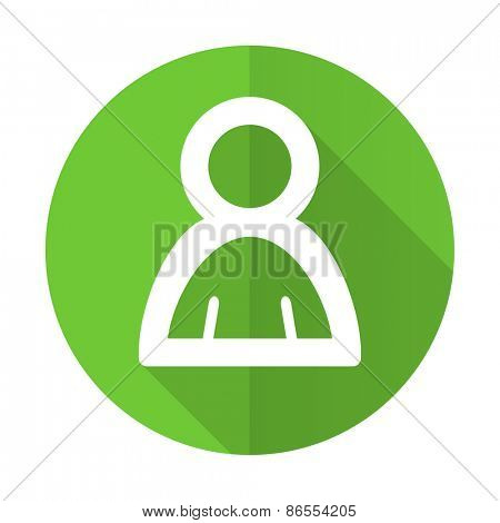 person green flat icon