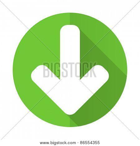 download arrow green flat icon arrow sign