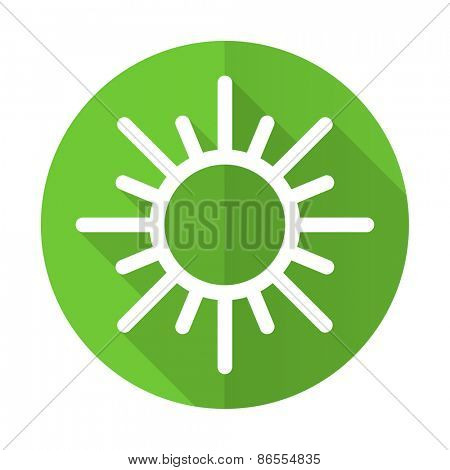 sun green flat icon weather forecast sign