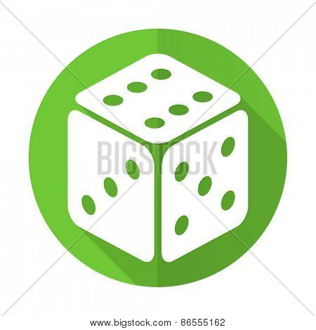 casino green flat icon hazard sign