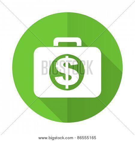 financial green flat icon
