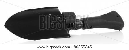 Metal shovel isolated on white
