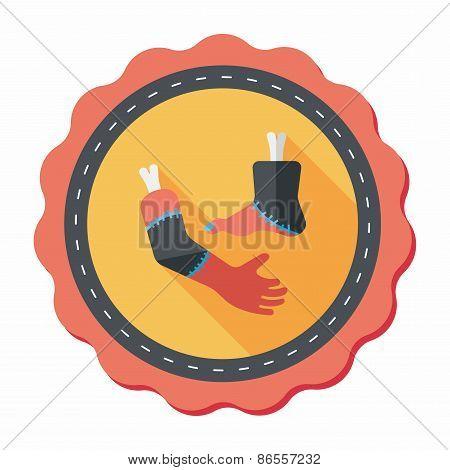 Halloween Hand And Leg Flat Icon