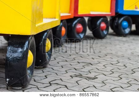 Colorful Of Wheel Train