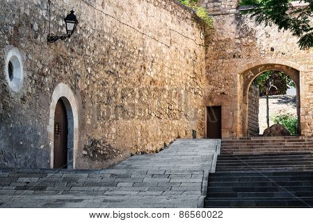 staircase near the old fortress and gates