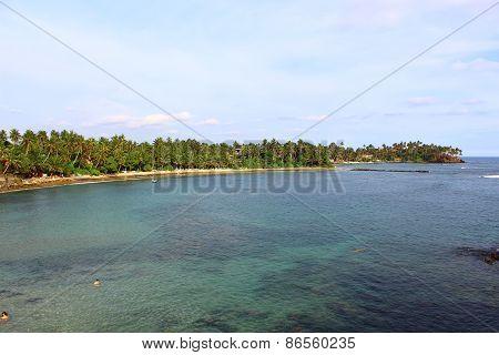 Part of Mirissa beach, Sri Lanka