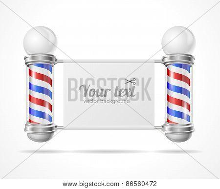 Vector baber shop pole