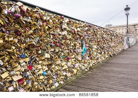 Bridge Of Love In Paris
