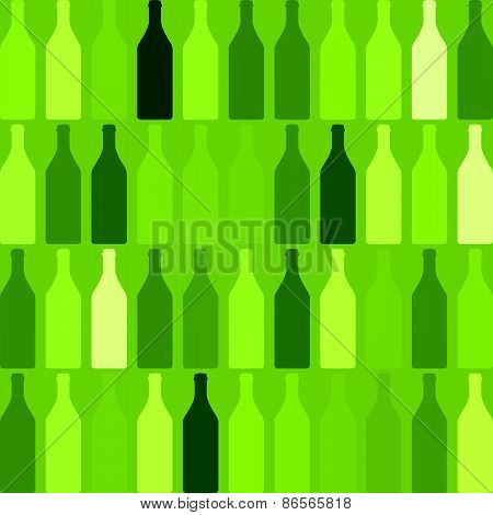 Background Bottles Green