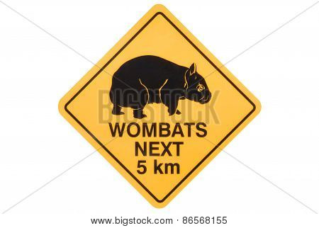 Wombat Warning Sign