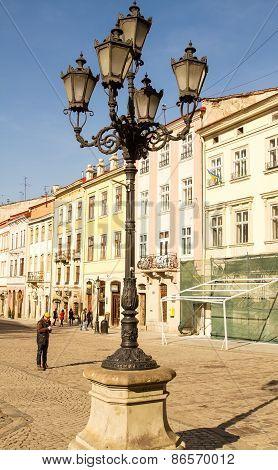 Street Lamp In Lviv .