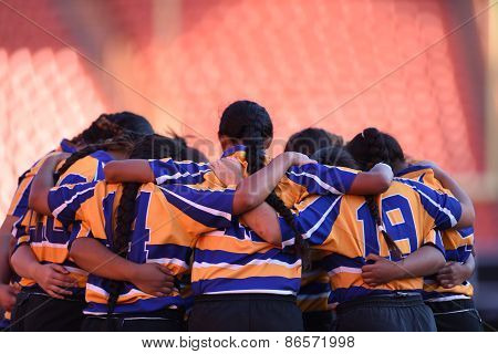 Rugby Womes Team Unity