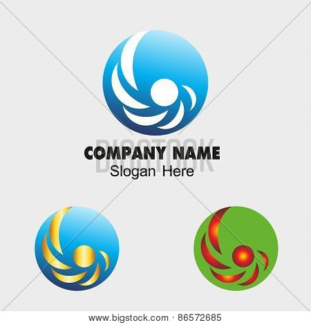 Circle icon spiral sign vector