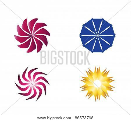 Circular Icon Symbol Logo Element set vector