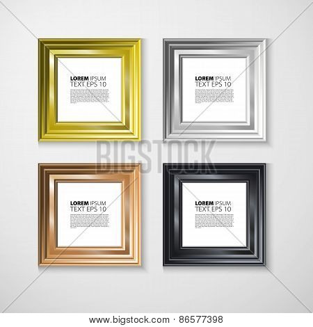 Picture Frame Vector Photo Art Gallery Vintage Wall