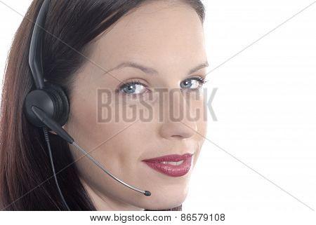 Attractive Telephone Worker