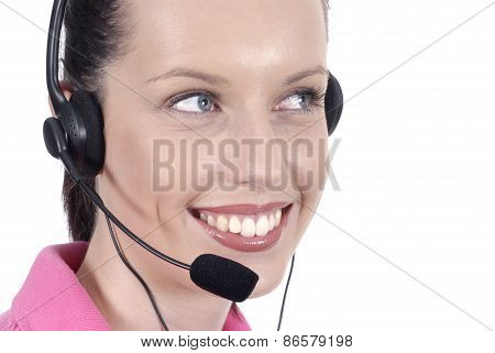 Telephonist With Smile