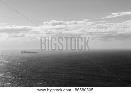Ship Destination Black White