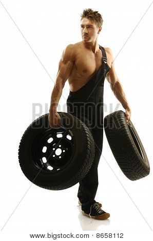 Man With Tires