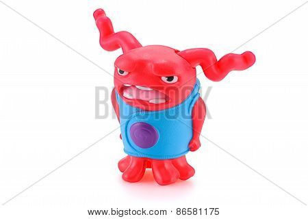 Shaking Oh Red Alien Toy Character From Dreamworks Home Animation Movie.