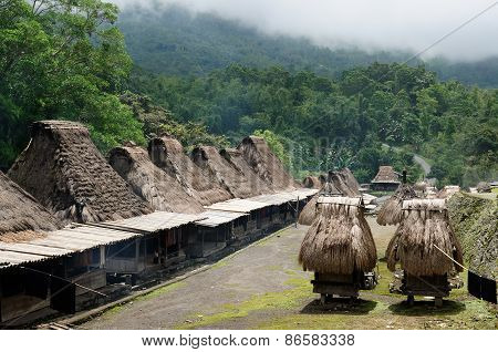 Ethnic Straw Village In Indonesia