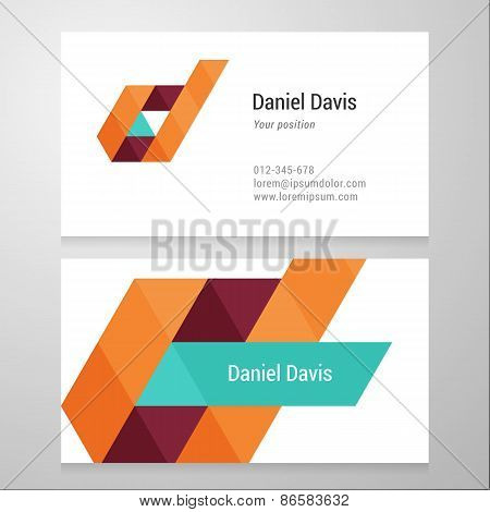 Modern Letter D Business Card Template