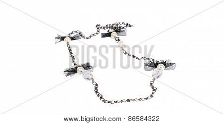 Modern Black And White  Necklace