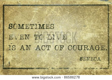 Act Courage Seneca