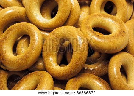 Closeup Baked Bagels