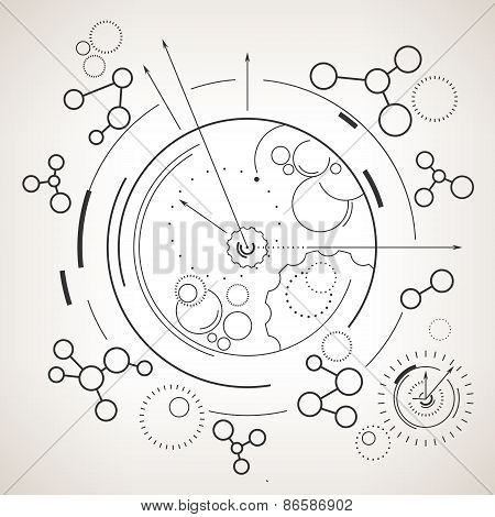 Abstract Technology Geometric Background
