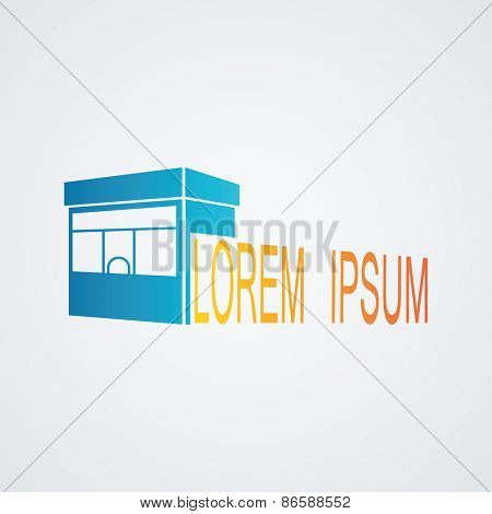 Vector illustration of a symbolic image store