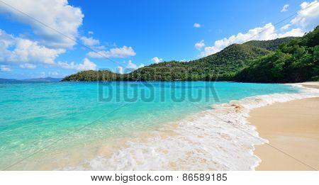 Colorful beach in St John, Virgin Island.