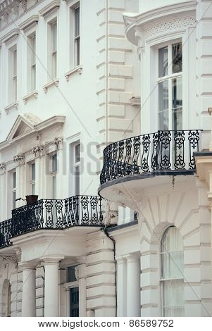 Urban historical architecture in street in London.