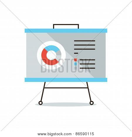 Presentation Infographic Flat Line Icon Concept