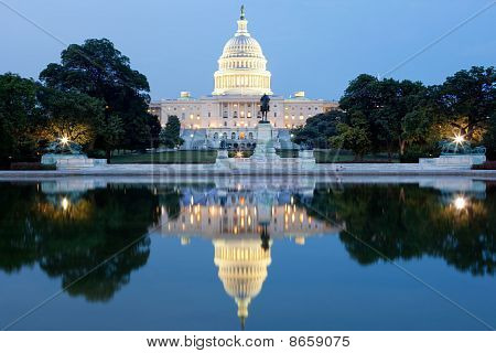 The United States Capitol After Dark