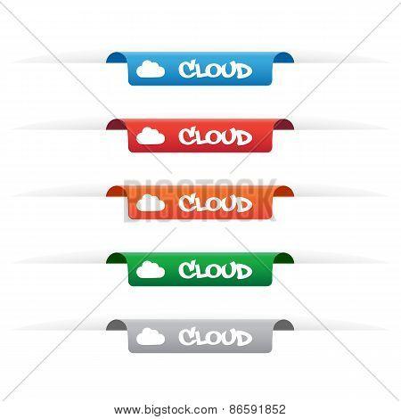 Cloud Paper Tag Labels