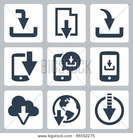 Download From Web Vector Icon Set