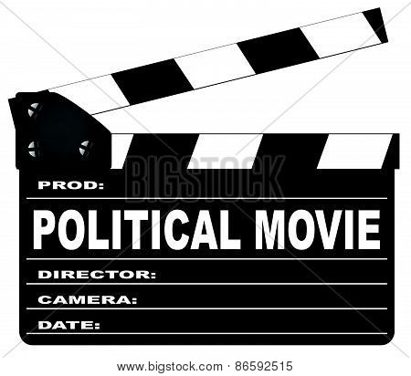 Political Movie Clapperboard