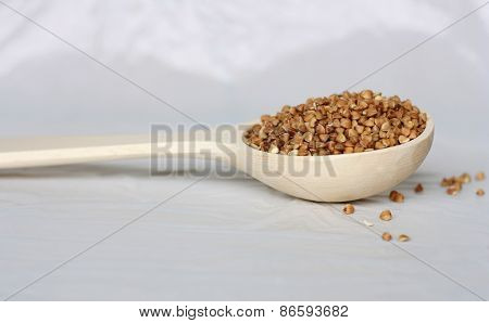 Spoon With Buckwheat