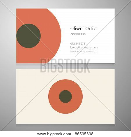 Vintage Letter O Icon Business Card Template