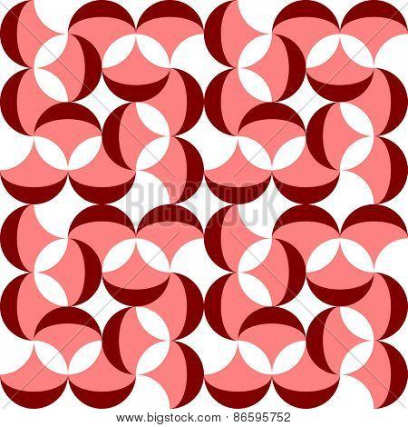 Seamless Curved Shape Pattern. Vector Regular Texture